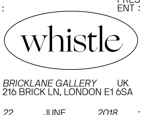 'Whistle' is an interactive pop up collaborative exhibition between Arman Golemohammadi & Collin Casino that focuses on the 'analog renaissance' underway in the San Francisco Bay area.